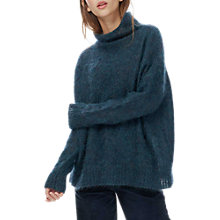 Buy Brora Mohair Funnel Neck Jumper, Diesel Online at johnlewis.com