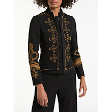 Buy Boden Lilian Jacket, Black/Brass Online at johnlewis.com