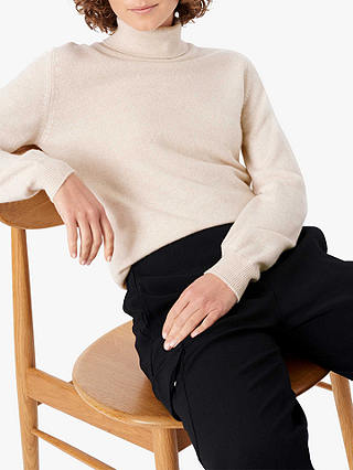 Buy Brora Cashmere Classic Polo Neck Jumper, Swan, 8 Online at johnlewis.com