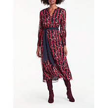 Buy Boden Primrose Midi Dress, Post Box Red/Navy Online at johnlewis.com
