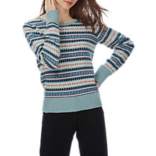 Buy Brora Cashmere Fair Isle Jumper, Haar Online at johnlewis.com