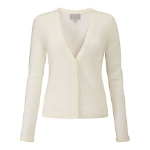 Buy Pure Collection Gassato Cashmere Cardigan, Soft White Online at johnlewis.com