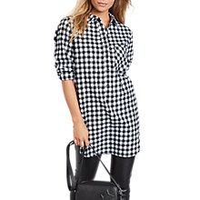 Buy hush Oversized Flannel Shirt, Black/White Online at johnlewis.com