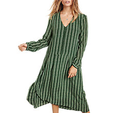 Buy hush Silk Sorrel Long Sleeve Dress, Green Stripe Online at johnlewis.com