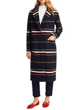 Grace & Oliver Stripe Mila Coat, Navy/Multi