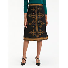 Buy Boden Lilian Skirt, Black/Brass Online at johnlewis.com