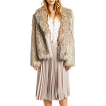 Buy Grace & Oliver Tallulah Faux Fur Jacket, Natural Online at johnlewis.com