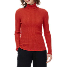 Buy Brora Cashmere Skinny Ribbed Polo Jumper Online at johnlewis.com