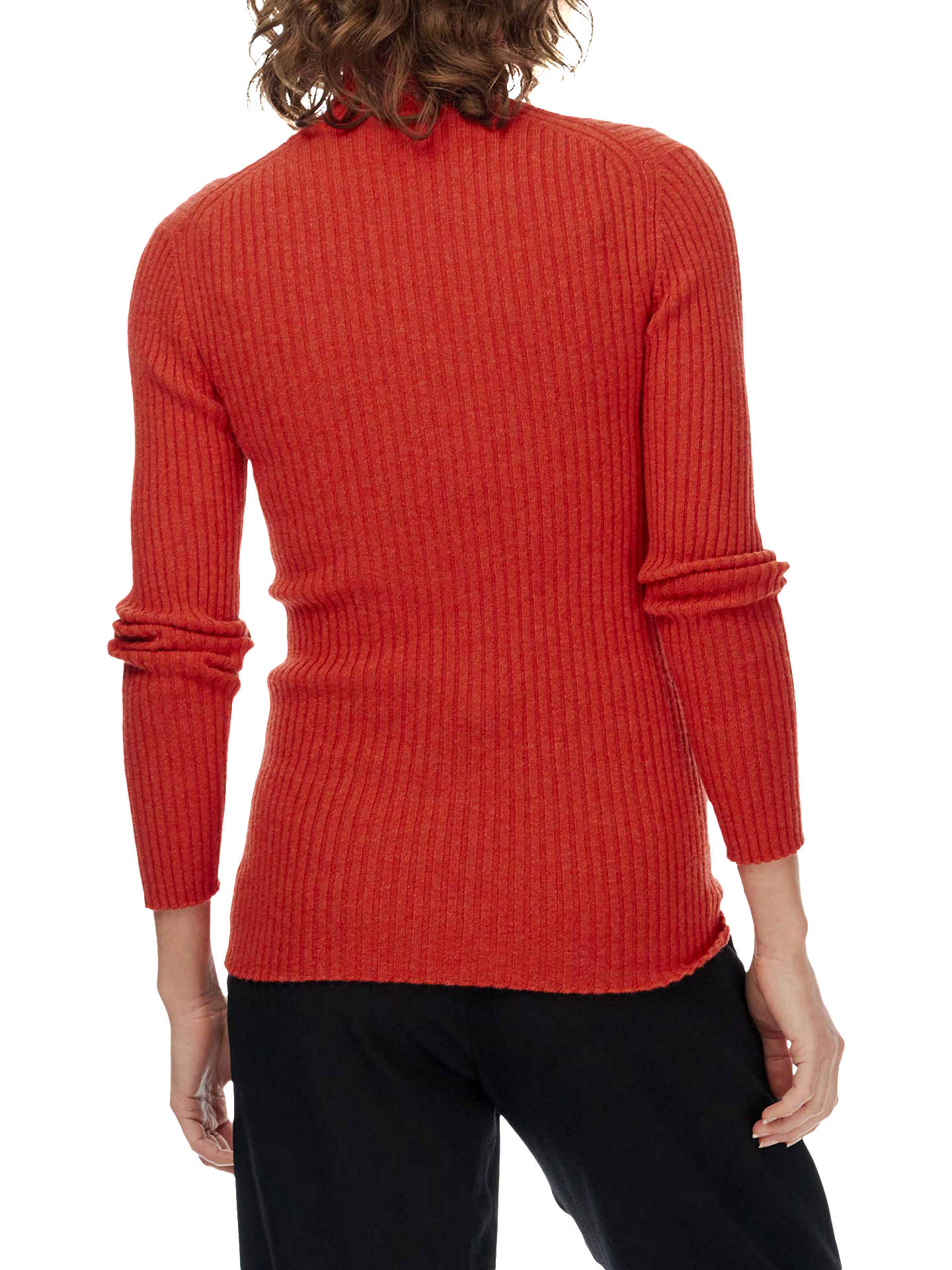 8938b3fb3fd Brora Cashmere Skinny Ribbed Polo Jumper at John Lewis & Partners