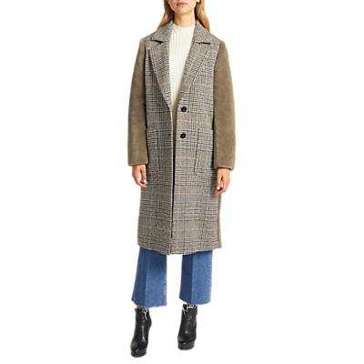 Grace & Oliver Bronte Borg Back Wool Blend Coat, Taupe