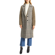 Buy Grace & Oliver Bronte Borg Back Wool Blend Coat, Taupe Online at johnlewis.com