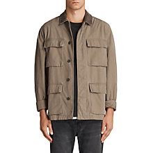 Buy AllSaints Dyers Military Jacket, Khaki Green Online at johnlewis.com