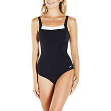Buy Speedo Contour Renew Swimsuit, Black/White Online at johnlewis.com