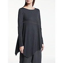 Buy Great Plains Charlotte Jersey Top, Onyx Black/Classic Navy Online at johnlewis.com