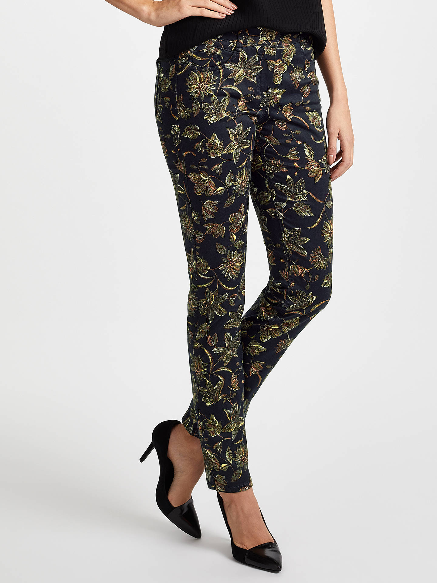 21882e39297 Buy Gardeur Zuri Slim Fit Printed Jeans, Black/Multi, 10 Online at  johnlewis ...