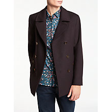 Buy Ted Baker Keron Pea Coat, Dark Red Online at johnlewis.com