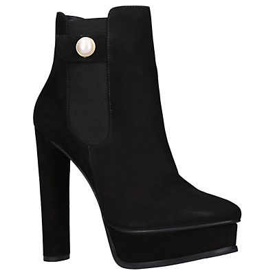 Product photo of Kg by kurt geiger radar block heeled platform ankle boots black leather
