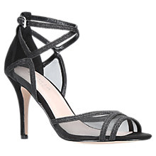 Buy Carvela Luke Stiletto Heeled Sandals, Black Online at johnlewis.com
