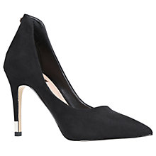 Buy Carvela Atune Pointed Toe Stiletto Heeled Court Shoes, Black Online at johnlewis.com