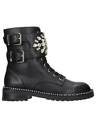 Kurt Geiger London Stoop Embellished Ankle Boots, Black Leather
