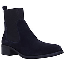 Buy KG by Kurt Geiger Ronda Block Heeled Chelsea Ankle Boots, Navy Suede Online at johnlewis.com