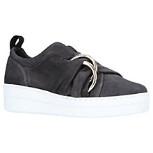 Buy Kurt Geiger Lotty Slip On Trainers, Dark Grey Suede Online at johnlewis.com