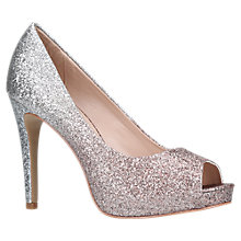 Buy Carvela Lark Peep Toe Court Shoes, Pink Glitter Online at johnlewis.com
