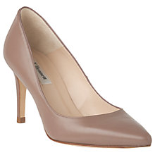 Buy L.K. Bennett Floret Pointed Court Shoes, Pink Leather Online at johnlewis.com
