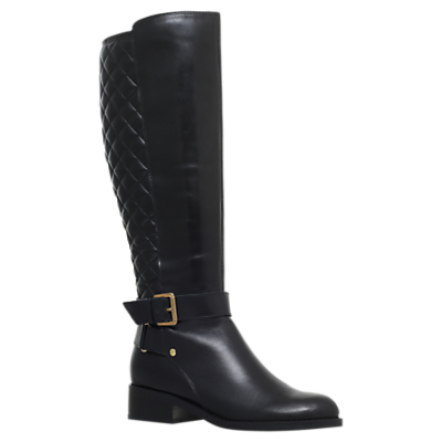Product photo of Carvela polished block heeled knee high boots black