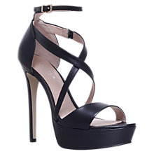 Buy Carvela Ground Cross Strap Stiletto Heeled Sandals, Black Online at johnlewis.com