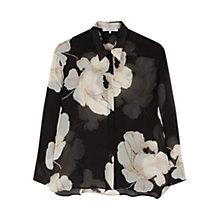 Buy Gerard Darel Floral Print Silk Chemise, Black Online at johnlewis.com