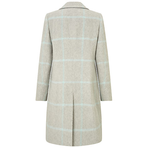 Buy Four Seasons Single Breasted Check Coat, Pale Grey Online at johnlewis.com
