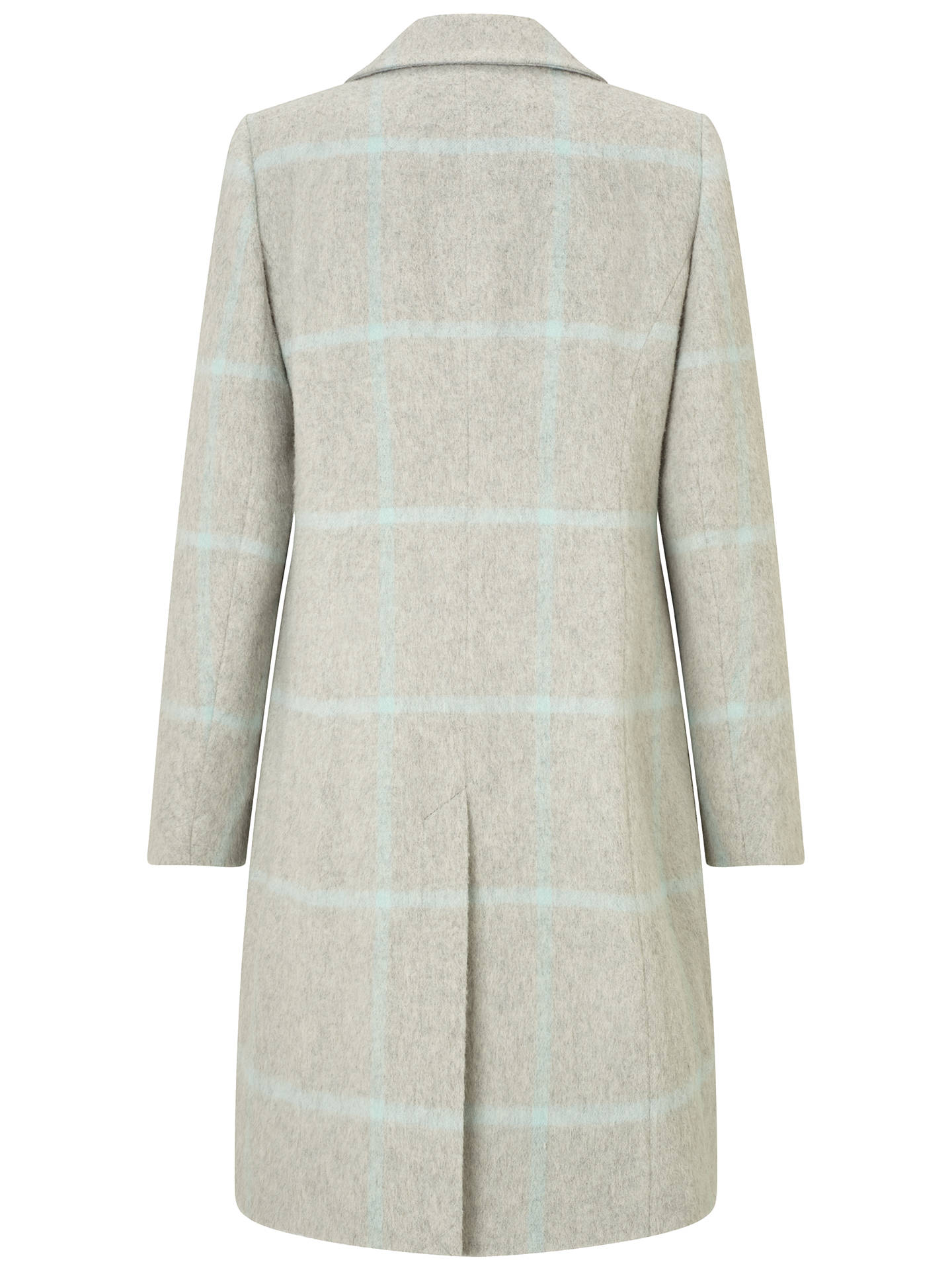 BuyFour Seasons Single Breasted Check Coat, Pale Grey, M Online at johnlewis.com