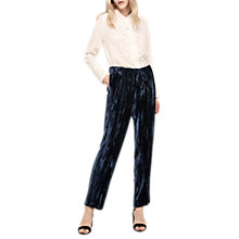Buy Gerard Darel Sevres Silk Blend Trousers, Blue Online at johnlewis.com