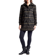 Buy Four Seasons Check Duffle Coat, Grey Online at johnlewis.com