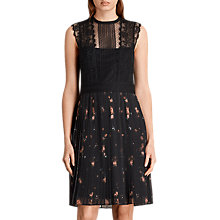 Buy AllSaints Milen Maize Dress, Black Online at johnlewis.com