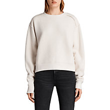 Buy AllSaints Gilda Sweatshirt, Chalk White/Taupe Online at johnlewis.com