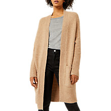 Buy Warehouse Soft Longline Cardigan, Camel Online at johnlewis.com