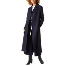 Buy Jigsaw Empire Longline Coat, Dark Navy Online at johnlewis.com