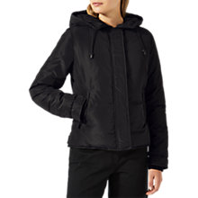 Buy Jigsaw Storm Short Padded Coat, Black Online at johnlewis.com