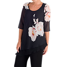 Buy Chesca Floral Bloom Placement Tunic, Black/Blush Online at johnlewis.com