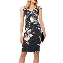 Buy Karen Millen Oversized Floral Print Dress, Grey/Multi Online at johnlewis.com