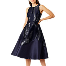 Buy Coast Purity Jacquard Midi Dress, Navy Online at johnlewis.com