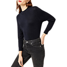 Buy Warehouse Funnel Neck Jumper, Navy Online at johnlewis.com