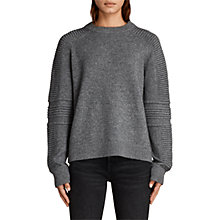 Buy AllSaints Harley Crew Neck Jumper, Grey Marl Online at johnlewis.com