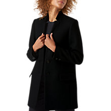 Buy Jigsaw Chip Rever Coat, Black Online at johnlewis.com