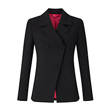 Buy Jigsaw Rounded Tailoring Empire Jacket, Black Online at johnlewis.com