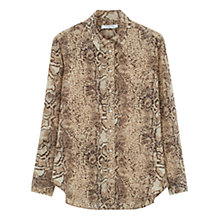 Buy Gerard Darel Long Sleeve Brian Blouse, Beige Online at johnlewis.com