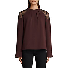 Buy AllSaints Jay Lace Long Sleeve Blouse Online at johnlewis.com