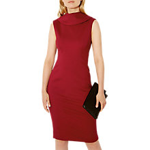 Buy Karen Millen High Neckline Dress, Red Online at johnlewis.com